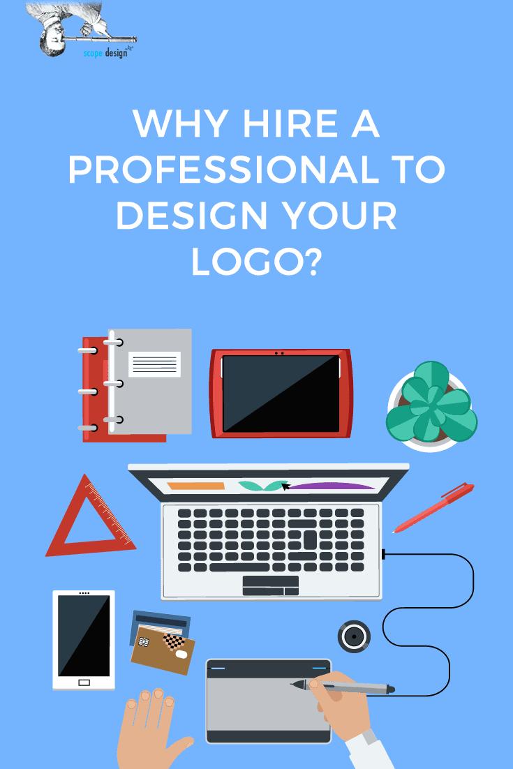 Why Hire Professional Logo Designer Pin